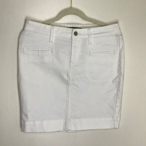 Levi's White Denim Mini Skirt High Rise Size 10
